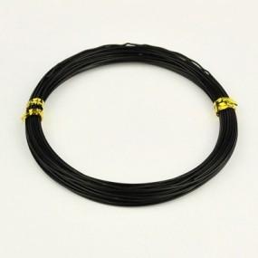 Alu drátek černý 1,0mm (3m)