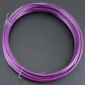 Alu drátek tmavě fialový 1,0mm (3m)