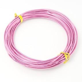 Alu drátek světle růžový 1,0mm (3m)