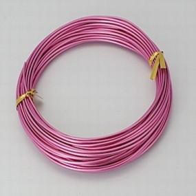 Alu drátek růžový 1,0mm (3m)