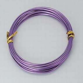 Alu drátek světle fialový 1,0mm (3m)