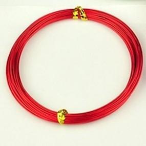 Alu drátek červený 1,0mm (3m)