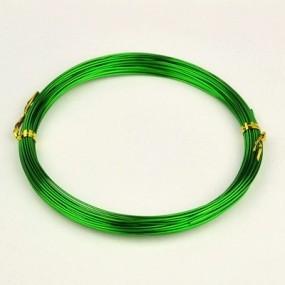 Alu drátek zelený 1,0mm (3m)