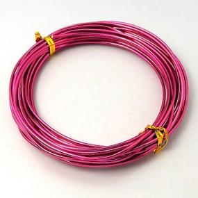 Alu drátek tmavě růžový 1,0mm (3m)