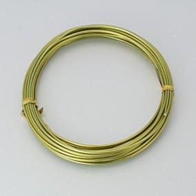 Alu drátek žlutozelený 1,0mm (3m)