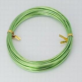Alu drátek světle zelený 1,0mm (3m)