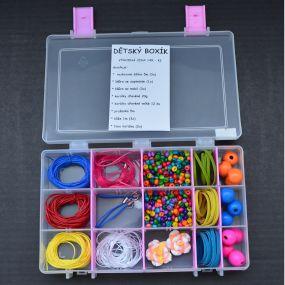 Dětský box s korálky barevný