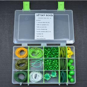 Dětský box s korálky zelený