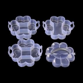Box na korálky / komponenty 3-patrový květina