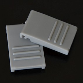 Zavírání pro BOX S / M / L šedé (2 ks)