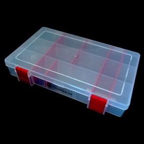 Box na korálky / komponenty červený