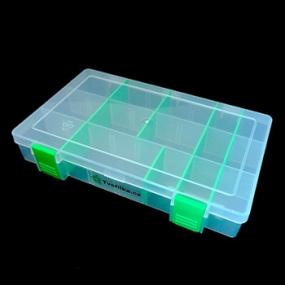 Box na korálky / komponenty světle zelený