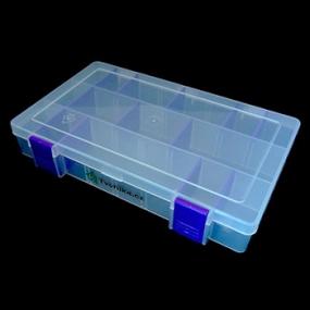 Box na korálky / komponenty tmavě fialový