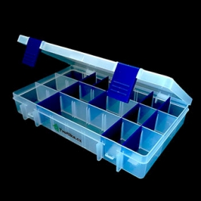 Box na korálky / komponenty tmavě modrý