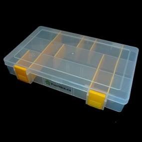 Box na korálky / komponenty žlutý