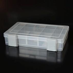 Box na korálky / komponenty šedý