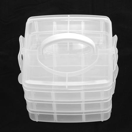 Box na korálky / komponenty 3-patrový