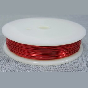 Drátek červený 1,0mm (2,5m)