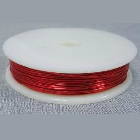 Drátek červený 0,5mm (8m)