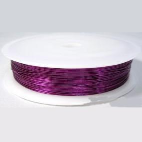 Drátek fialový 0,5mm (8m)