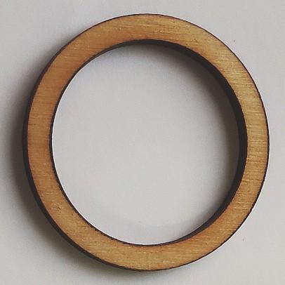 Dřevěný kruh / obruč na lapač snů přírodní 4,1 cm