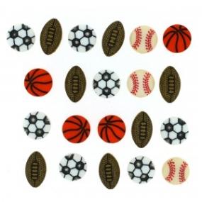 Ozdobné knoflíky Tiny Sports Equipment