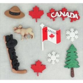 Ozdobné knoflíky Destination Canada