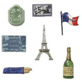 Ozdobné knoflíky Destination France