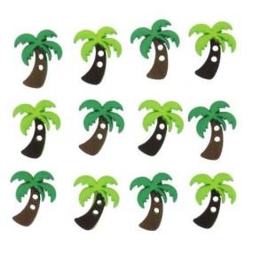 Ozdobné knoflíky Sew Cute Palm Trees