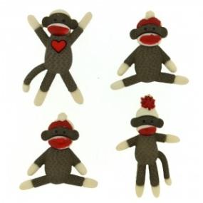 Ozdobné knoflíky Sock Monkeys