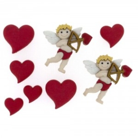 Ozdobné knoflíky Cupid's Arrow