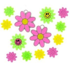 Ozdobné knoflíky Funky Flowers