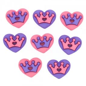 Ozdobné knoflíky ROYAL HEARTS