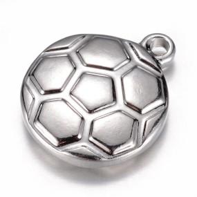 Přívěsek fotbalový míč 16x13mm chirurgická ocel