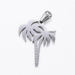 Přívěsek palmy 25x20mm chirurgická ocel