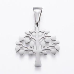 Přívěsek strom života 27x26mm chirurgická ocel