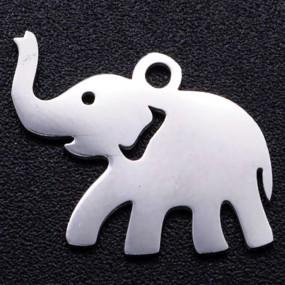 Přívěsek slon 17x12mm chirurgická ocel