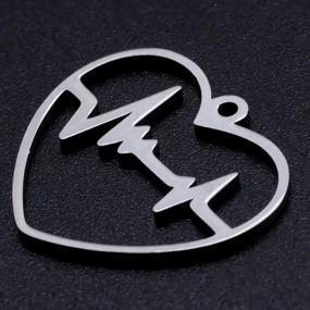 Přívěsek tep srdce v srdíčku 22x20mm chirurgická ocel