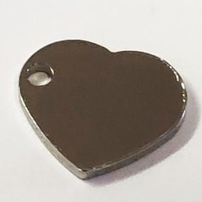 Přívěsek srdce / srdíčko 11x10mm chirurgická ocel
