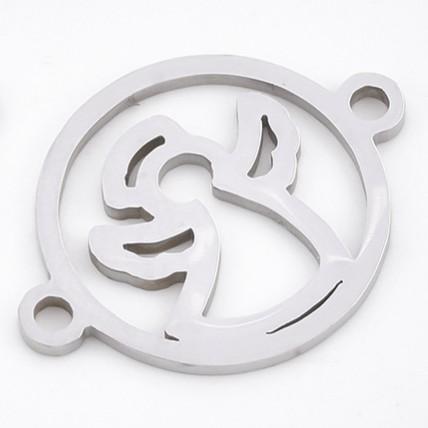 Mezidíl andělíček 20x16mm chirurgická ocel