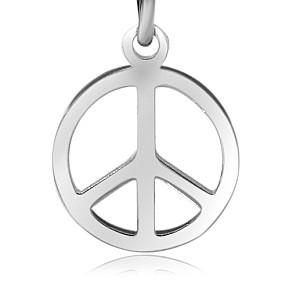 Přívěsek Peace 15x13mm chirurgická ocel