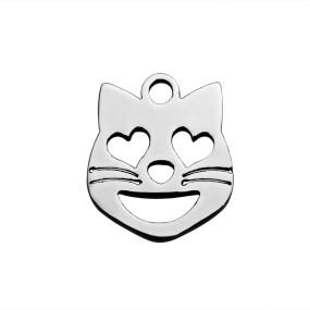 Přívěsek kočka 13x11mm chirurgická ocel