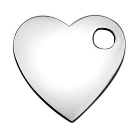 Přívěsek srdce / srdíčko 8x8mm chirurgická ocel