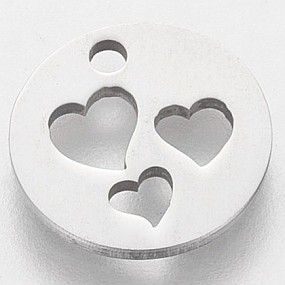 Přívěsek 3 srdce v kruhu 13x13mm chirurgická ocel
