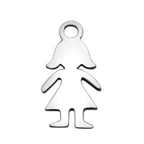 Přívěsek dívka 14x8mm chirurgická ocel