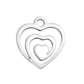 Přívěsek srdce 14x13mm chirurgická ocel