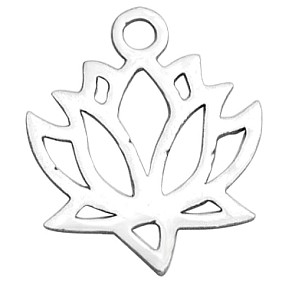 Přívěsek lotosový květ 15x12mm chirurgická ocel
