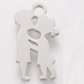 Přívěsek chlapec a dívka - polibek 16x10mm chirurgická ocel
