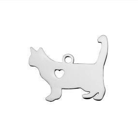Přívěsek kočka 19x16mm chirurgická ocel