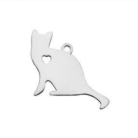 Přívěsek kočka 22x17mm chirurgická ocel